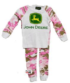 John Deere Infant And Toddler Pink Camo Pajamas Camo Baby Clothes, Camo Baby Stuff, Baby Kids Clothes, Kids Clothing, John Deere Kids, John Deere Baby, Toddler Pajamas, Girls Pajamas, Toddler Outfits