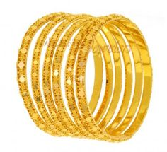 22Kt Gold Set of Bangles