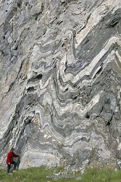 Strong folding in garnet gneiss, Hammerfest, Norway by Robert Harding