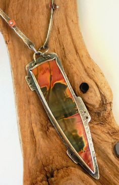 Necklace  Sterling Silver  Cherry Creek Jasper by rmddesigns, $160.00