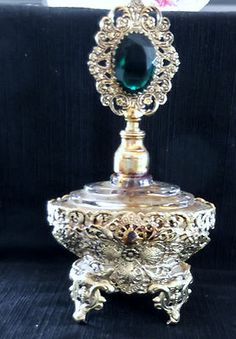 Filigree perfume bottle.
