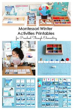 You'll find comprehensive Montessori winter activities printables here for preschool through elementary; perfect for homeschool or classroom - Living Montessori Now Winter Activities For Kids, Hands On Activities, Grammar Activities, Science Activities, Continents And Oceans, Teaching Geography, Homeschool Curriculum, Montessori Homeschool, Ways Of Learning
