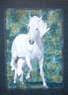 """""""Isabella"""" my latest horse quilt is a tribute to all the horses of Spanish descent, a perfect combination of power and agility!"""