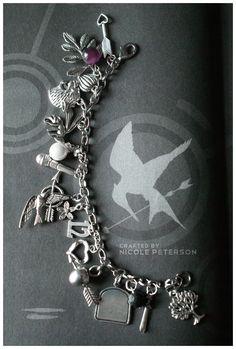 Hunger Games Charm Bracelet  by *MonsterBrand  Artisan Crafts / Jewelry / Bracelets & Anklets