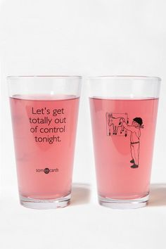 Let's Get Totally Out of Control Tonight Pint Glass  #UrbanOutfitters