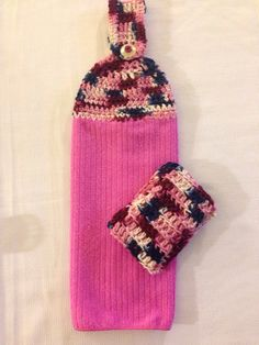 Handmade Crochet Pink Kitchen Dish Towel and by TMStreasures, $6.99