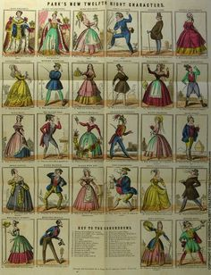 12th night | Park's New Twelfth Night Characters from 1843