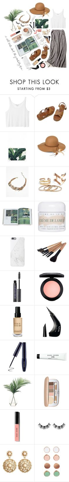 """""""ELLINORE"""" by fevercloud ❤ liked on Polyvore featuring Monki, MELLOW YELLOW, Steve Madden, Free People, La Mer, Native Union, Urban Decay, MAC Cosmetics, Bobbi Brown Cosmetics and NYX"""