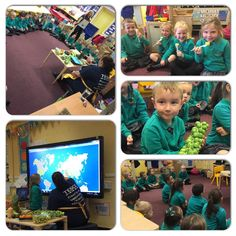 Farm to fork with tesco. Learning about where fruits & vegetables Come from, locating them on a map and tasting them