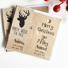 Shop us via the link and hit us with a follow on instagram @PartyWild15 to keep up with our latest! Tags: Kraft Brown. Favour Tags. Rustic. Christmas. Home Alone.