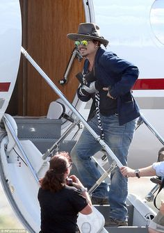 Mystery: The incident did not occur on the set and Queensland police and ambulance services confirmed that they were not called to any incident regarding Mr Depp