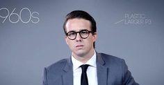 A evolução dos óculos masculinos desde 1930 até os dias de hoje.