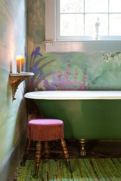 rustic bathroom by Anna Addison Photography