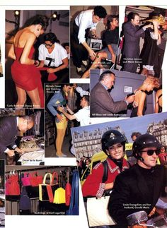 'Extras' from………..Vogue January 1991 feat various models