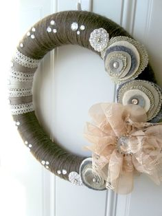 Shabby Chic Wreath~Visit our Etsy store, WreathsByEmmaRuth