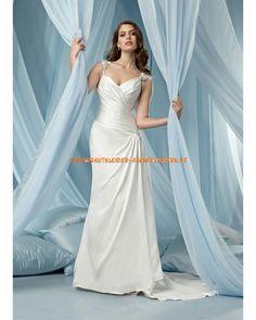 Elegantes Brautkleid A-Linie 2013 aus Satin online