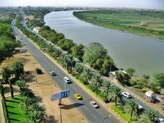 Khartoum, Sudan الخرطوم، السودان The place where the Blue Nile (from Ethiopia) joins the White Nile (from Lake Victoria)