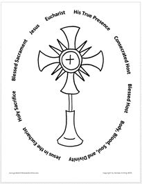 catholic church symbols coloring pages - photo#27