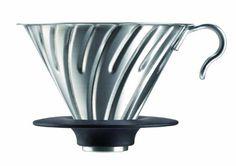 ハリオ V60 メタルドリッパー 1~4杯用 シルバー VDM-02HSV