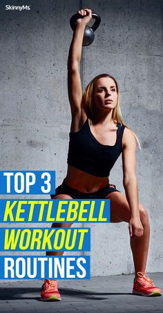 3 Kettlebell Workout Routines These kettlebell routines will take your fitness to the next level, mentally and physically!These kettlebell routines will take your fitness to the next level, mentally and physically! Kettlebell Workout Routines, Kettlebell Circuit, Best Workout Routine, Workout Routines For Women, Kettlebell Swings, Butt Workout, Gym Workouts, Workout Ideas, Kettlebell Deadlift