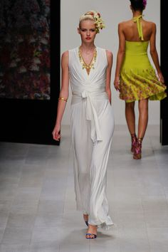 flowy white Issa at London Fashion Week Spring 2013