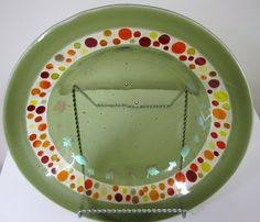 Autumn Inspiration Fused Glass Bowl by JanuaryMayDesigns on Etsy, $60.00