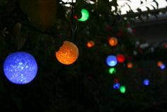 "Britta Products SSR-03 Luminous Glow Colored Solar String Light, Set of 21 by Britta Products. Save 16 Off!. $46.39. The 2.1"" (7cm) EVA textured colored ball are spaced about 14"" apart along a 22.5' wire length. These unique and festive glowing spheres add warmth and atmosphere to any garden. Powered by a compact and powerful solar panel that can be ground mounted or attached to a nearby tree, post or building. Luminous Glow Colored Solar Strings add a festive colored glow to outdoor ..."