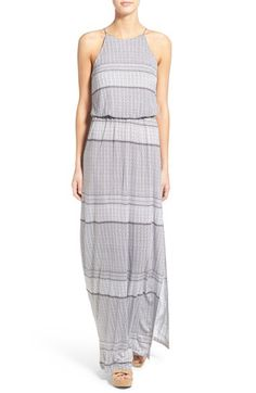 442a1b8361 Lush Lush High Neck Maxi Dress available at #Nordstrom Nordstrom Dresses,  Playing Dress Up