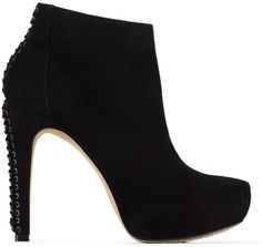 VINCE CAMUTO CANNON BLACK SUEDE HIGH HEEL PLATFORM ANKLE BOOTIES ELVIN WINCHELL