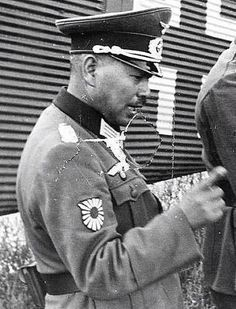 Japanese Officer serving with the German Army in World War Two. Note the patch.