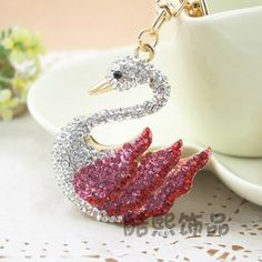 Free shipping rhinestone keyring Accessories car keychain key ring gift exquisite rhinestone