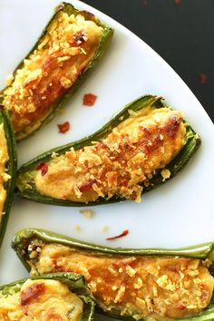 30 minute jalapeno poppers made with simple, wholesome ingredients and minimal effort. Just 30 minutes and 8 ingredients required. Vegan and Gluten Free. Vegan Gluten Free, Vegan Vegetarian, Vegetarian Recipes, Dairy Free, Vegetarian Thanksgiving, Vegan Appetizers, Vegan Snacks, Vegan Potluck, Vegan Foods
