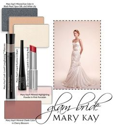 Looking for the perfect wedding makeup?  Mary Kay has what you need to be a modern bride, glam bride or classic bride.