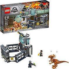 LEGO Jurassic World building sets are compatible with all LEGO construction sets for creative building. 222 pieces – dinosaur toy for boys and girls between the ages of 6 and Feature Discontinued LEGO Set. Lego Jurassic World, Jurassic World Fallen Kingdom, Jurassic Park, Lego Ninjago, Legos, Dinosaur Toys For Boys, Lego Junior, Dinosaur Mask, Pokemon