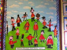 The Grand Old Duke of York Display Banner Class Displays, School Displays, Classroom Displays, Rhyming Activities, Interactive Activities, Nursery Rhyme Crafts, Nursery Rhymes, Knights And Castles Topic, Nursery Display Boards