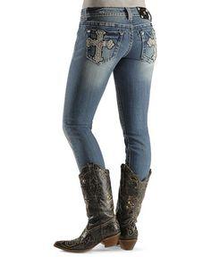 Miss Me Juniors' Slim Skinny New Cross Pocket Jean - 33 1/2