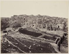 Francis Bedford - The city of Bethlehem seen from the roof of the monastery, april 3, 1862