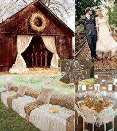 I love the country theme weddings #barn #outside country #weddings