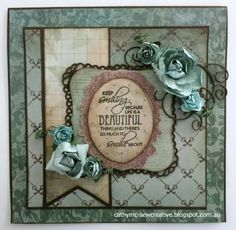 Today I would like to share two cards that I have made using Kaisercraft's Heirloom Collection. I love vintage/shabby chi. Tonic Cards, Altered Cigar Boxes, Scrapbook Blog, Diy Cards, Men's Cards, Card Sketches, Flower Cards, Homemade Cards, Making Ideas