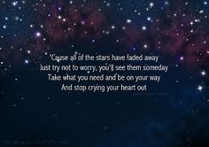 Stop crying your heart out.. Oasis song lyrics