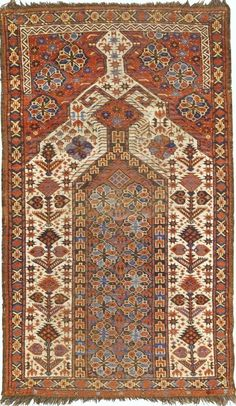 Turkestanian Ersari Beshir Prayer Rug, 176 by 98cm,  first half 19th century