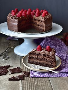 Sacher Torte Recipe, Fondant Cakes, Cupcake Cakes, Raspberry Torte, Chocolate Torte, Cheesecake Cupcakes, Delicious Chocolate, Beautiful Cakes, Oreo