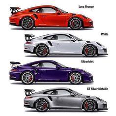 Porsche. No Substitute! — Choose your GT3 RS colour!