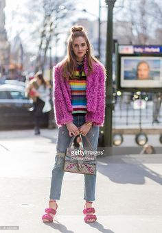 Chiara Ferragni is wearing pink Marco De Vincenzo heel sandals, The Blonde Salad for Levi's