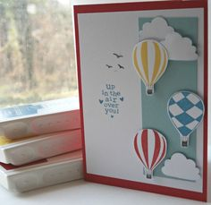 Stampin Up Handmade Card - Valentines close to my heart has a stamp set with balloons