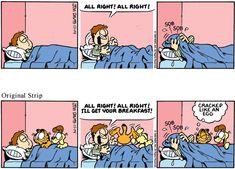 Garfield Quotes, Garfield Cartoon, Garfield And Odie, Garfield Comics, Cartoon Jokes, Read Comics, Funny Comics, Perry Bible Fellowship, Hagar The Horrible