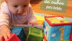 Atividade para bebês de 6 a 12 meses - Cesto de Cubos