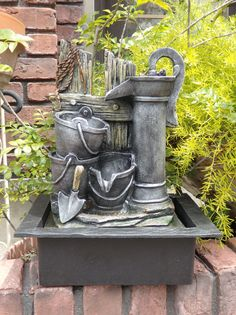 Fountain Angel pumps solar fountain faucets Interior gardening garden antique resin