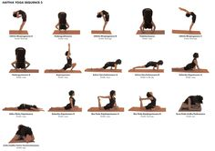 Yoga Poses (Asana) Hattha Sequence 3