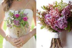 Wedding Flowers, Organic Lilac Wedding Bouquets: lilac wedding flowers